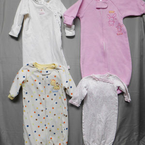 Other - 4 pieces girls sleep sacks 0-9 months